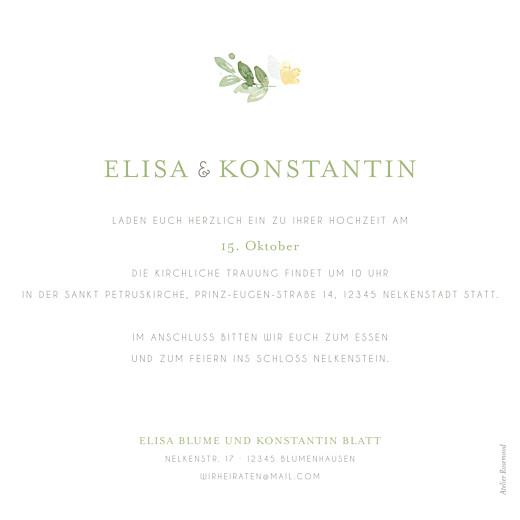 Hochzeitseinladung Englischer garten grün