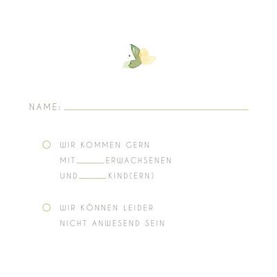 Antwortkarte Hochzeit Englischer garten grün finition