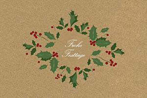 Weihnachtskarte Winterstimmung sand