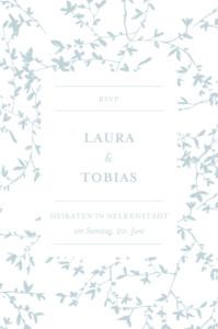 Antwortkarte Hochzeit Zarte poesie grün