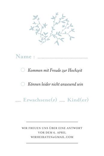 Antwortkarte Hochzeit Zarte poesie grün - Seite 2