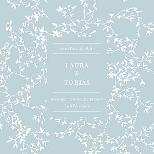 Hochzeitseinladungen originell zarte poesie grün