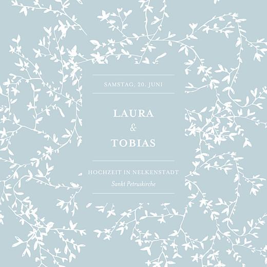 Hochzeitseinladung Zarte poesie grün
