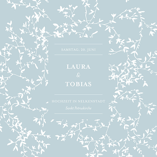 Hochzeitseinladungen Zarte poesie grün