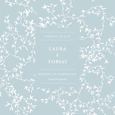 Hochzeitseinladung Zarte poesie grün finition