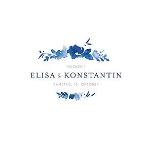 Hochzeitseinladungen blau englischer garten klappkarte blau