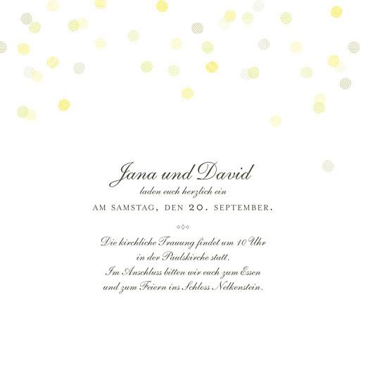 Hochzeitseinladung Lichterregen sand