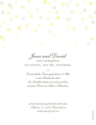 Hochzeitseinladung Lichterregen hoch sand