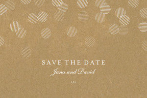 Save-the-Date Karte Lichterregen sand