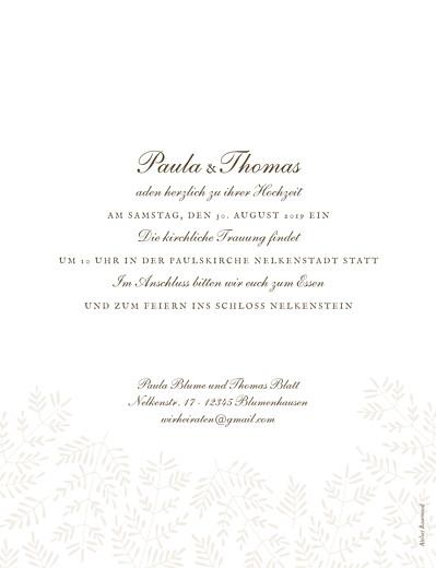 Hochzeitseinladung Naturspiel beige