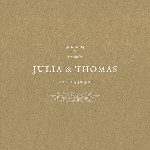 Hochzeitseinladungen Provence (klappkarte) sand
