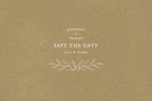 Save-the-Date Karte Provence sand