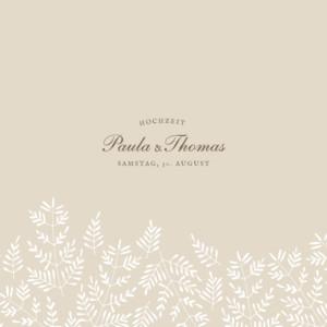 Hochzeitseinladung Naturspiel (klappkarte) beige