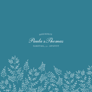 Hochzeitseinladung Naturspiel (klappkarte) blau