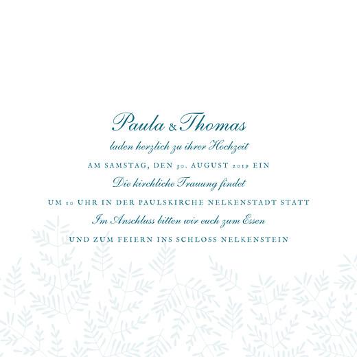Hochzeitseinladungen Naturspiel (klappkarte) blau - Seite 3