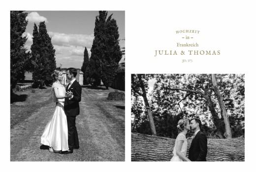 Dankeskarten Hochzeit Provence sand