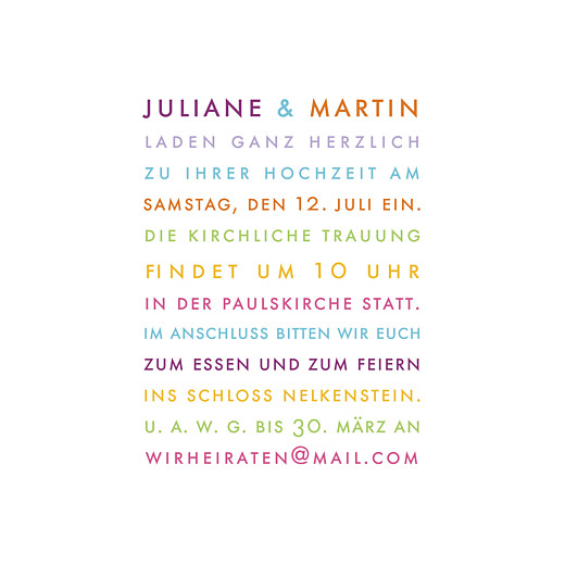 Hochzeitseinladungen Modern weiß - Seite 3