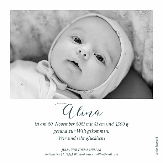 Geburtskarten Herbstoutfit grau - Seite 2