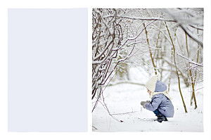 Weihnachtskarte Kleine kreidetafel (gold) blau