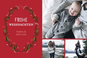 weihnachtskarten adventskranz klappkarte atelier rosemood. Black Bedroom Furniture Sets. Home Design Ideas