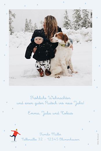 Weihnachtskarten Winterspaß blau - Seite 2