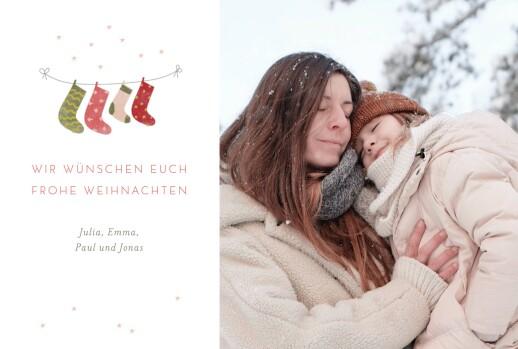weihnachtskarten 4 weihnachtssocken atelier rosemood. Black Bedroom Furniture Sets. Home Design Ideas
