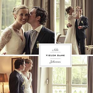 Dankeskarten Hochzeit Etikett klappkarte weiß