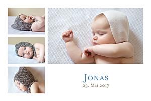 Geburtskarten weiß klassiker 6 fotos weiss