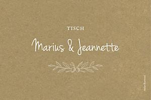 Tischkarten Hochzeit Provence sand
