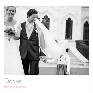 Dankeskarten Hochzeit Portfolio 3 fotos weiß