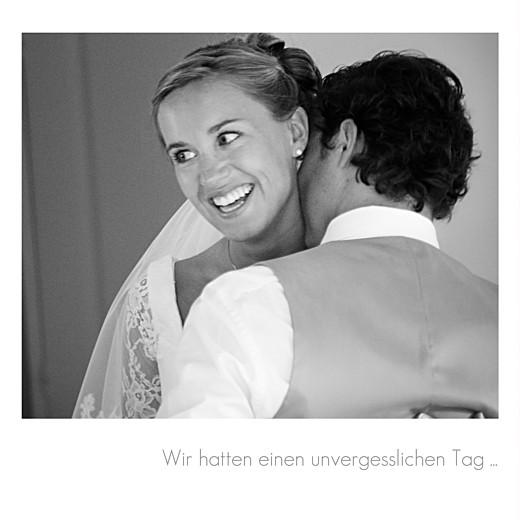 Dankeskarten Hochzeit Portfolio 3 fotos weiß - Seite 2