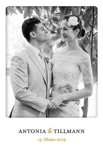Dankeskarten Hochzeit In einfachen worten weiß
