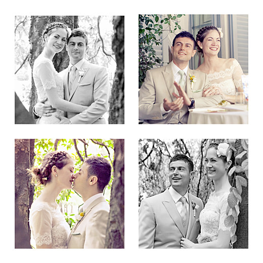 Dankeskarten Hochzeit Erinnerung 6 fotos weiß - Seite 2