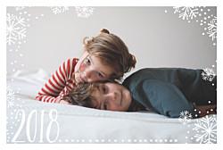 Weihnachtskarten neujahrsflocken (klappkarte) weiß & marineblau
