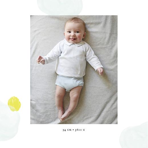 Geburtskarten Pastell tupfer klappkarte blau-gelb - Seite 2