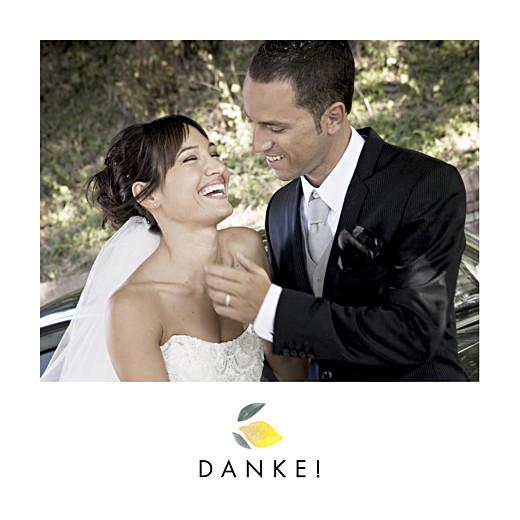 Dankeskarten Hochzeit Palermo weiß
