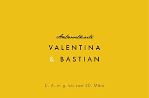 Antwortkarte Hochzeit Palermo weiß & gelb