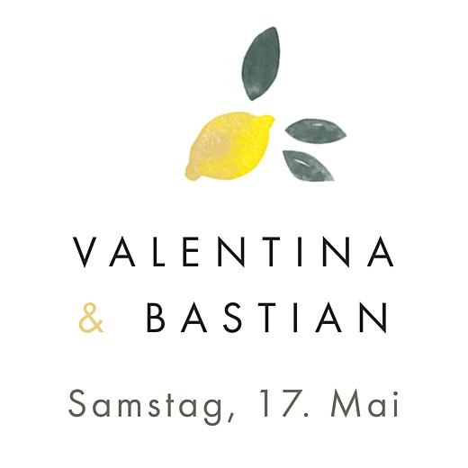 Anhänger Hochzeit Palermo weiß & gelb