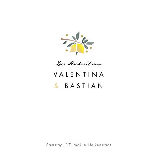 Hochzeitseinladungen Palermo weiß & gelb