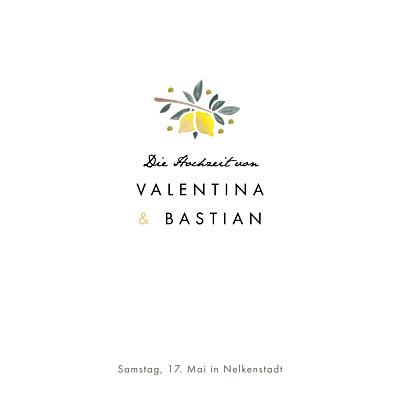 Hochzeitseinladung Palermo weiß & gelb finition