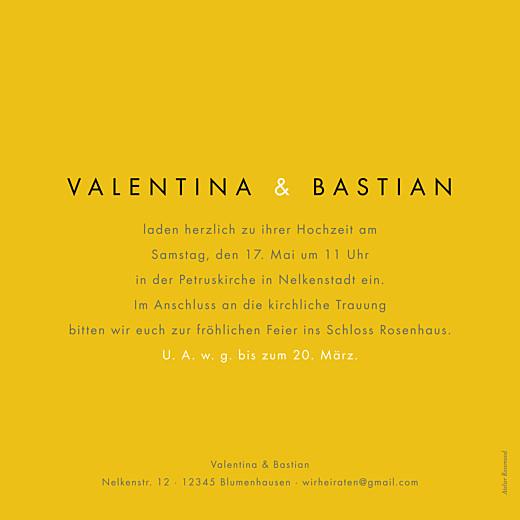 Hochzeitseinladungen Palermo weiß & gelb - Seite 2