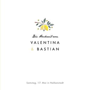 Hochzeitseinladungen orange palermo (klappkarte) weiß & gelb