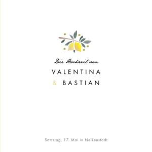 Hochzeitseinladung Palermo (klappkarte) weiß & gelb