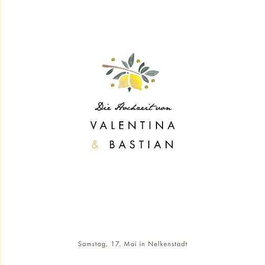 Hochzeitseinladungen Palermo (klappkarte) weiß & gelb