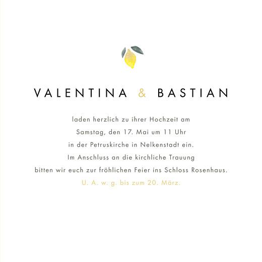 Hochzeitseinladungen Palermo (klappkarte) weiß & gelb - Seite 3