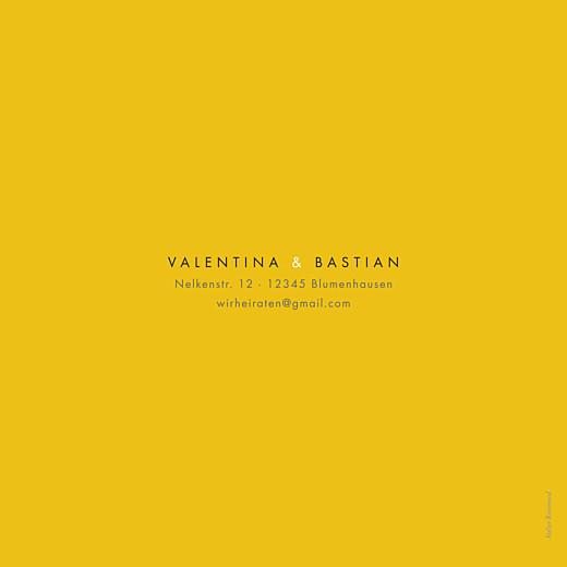 Hochzeitseinladungen Palermo (klappkarte) weiß & gelb - Seite 4