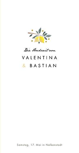 Menükarte Palermo weiß & gelb