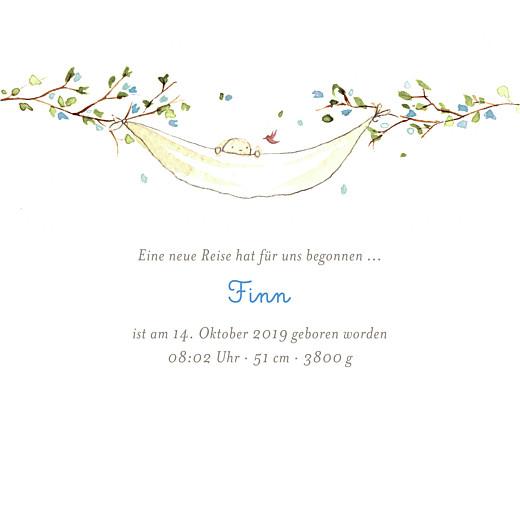 Geburtskarten Frühlingsgruß blau