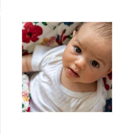 Geburtskarten Liebliches blattwerk leporello blau - Seite 2
