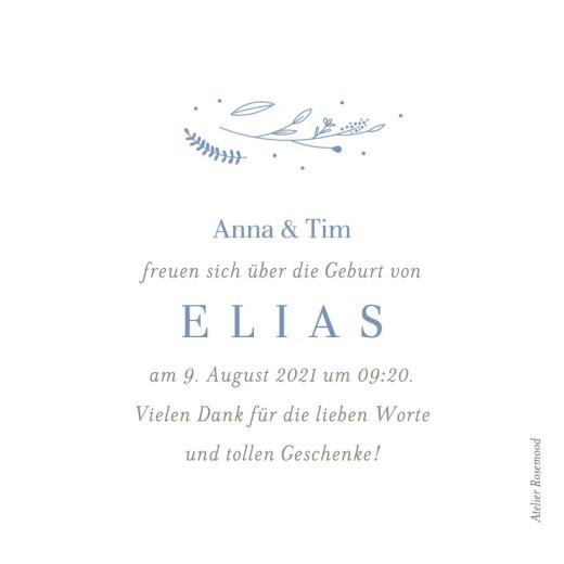 Geburtskarten Liebliches blattwerk leporello blau - Seite 3